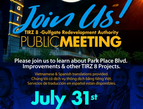 Join Us! TIRZ 8 Public Meeting, July 31